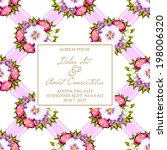 wedding invitation cards with... | Shutterstock . vector #198006320