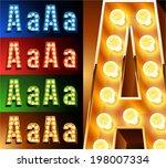 ultimate realistic lamp board...   Shutterstock .eps vector #198007334