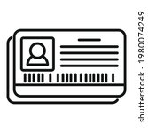 retirement id card icon.... | Shutterstock .eps vector #1980074249