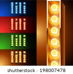 ultimate realistic lamp board... | Shutterstock .eps vector #198007478