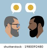 silhouettes. dialogue of two... | Shutterstock .eps vector #1980092480