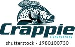 Crappie Fish Logo, Fresh and Unique Crappie fish jumping out of the water. Great to use as your Crappie fishing.