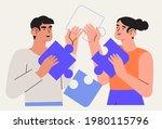 people team arrange puzzle...