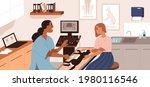 ultrasound diagnostics in vet... | Shutterstock .eps vector #1980116546