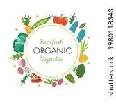 farm fresh organic vegetables...   Shutterstock .eps vector #1980118343