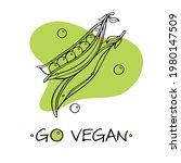 go vegan slogan with vector... | Shutterstock .eps vector #1980147509