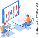 visualize with business... | Shutterstock .eps vector #1980165560