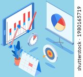 visualize with business... | Shutterstock .eps vector #1980165719