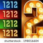 ultimate realistic lamp board... | Shutterstock .eps vector #198016604