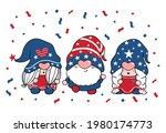 cute three trio gnome... | Shutterstock .eps vector #1980174773