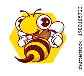 Cartoon Happy Bee With Sharp...