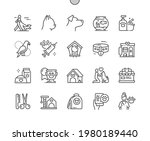 pets. cat  dog  bird and... | Shutterstock .eps vector #1980189440