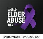 world elder abuse day banner ... | Shutterstock .eps vector #1980200120