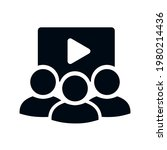 web conference icon with three... | Shutterstock .eps vector #1980214436