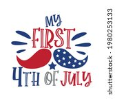 my first 4th of july   happy... | Shutterstock .eps vector #1980253133