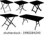 tourist folding tables in the...   Shutterstock .eps vector #1980284240