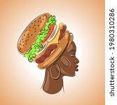 portrait of an african woman in ... | Shutterstock .eps vector #1980310286