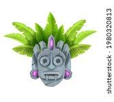 cartoon tiki mask  vector... | Shutterstock .eps vector #1980320813