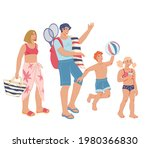 happy family   parents and... | Shutterstock .eps vector #1980366830