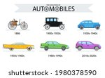 Set Of Car Models In Different...