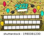 photo frame for class of 2021... | Shutterstock .eps vector #1980381230