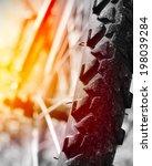 part of mountain bike on rocky...   Shutterstock . vector #198039284