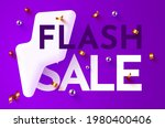 flash sale banner or poster... | Shutterstock .eps vector #1980400406