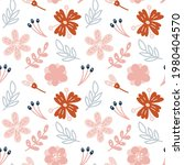 seamless pattern with leaves...   Shutterstock .eps vector #1980404570