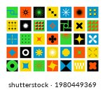 abstract geometric bold shapes. ... | Shutterstock .eps vector #1980449369
