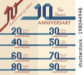 anniversary sign collection in... | Shutterstock .eps vector #198044948
