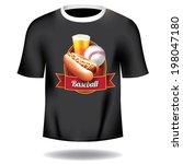Baseball T Shirt Design. Eps 1...
