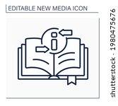 book line icon. recording... | Shutterstock .eps vector #1980475676