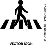 crossing walk vector icon....   Shutterstock .eps vector #1980480923