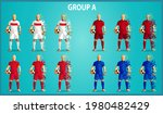 set of four soccer teams... | Shutterstock .eps vector #1980482429