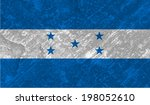 honduras  honduran flag on... | Shutterstock .eps vector #198052610