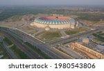 Small photo of Lucknow , Uttar Pradesh:India April 24 2020- Ekana Cricket Stadium or Ekana Cricket Stadium, commonly known as Ekana Cricket Stadium is an international standard cricket stadium