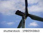 Fire In Windmill In Denmark