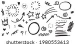 hand drawn set of curly swishes ... | Shutterstock .eps vector #1980553613