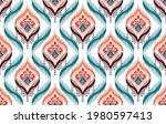 ikat tribal indian seamless...   Shutterstock .eps vector #1980597413