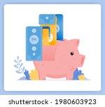 vector illustration of pink... | Shutterstock .eps vector #1980603923