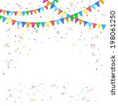 festive background with colored ... | Shutterstock . vector #198061250