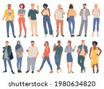 trendy young people men and...   Shutterstock .eps vector #1980634820