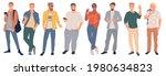 trendy young men set. creative...   Shutterstock .eps vector #1980634823