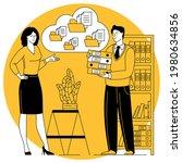 flat design cloud business...   Shutterstock .eps vector #1980634856