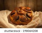 fresh bread on a linen cloth | Shutterstock . vector #198064208