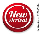 red round new arrival button on ... | Shutterstock .eps vector #198065396