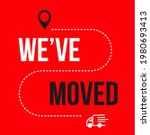we have moved icon. changed... | Shutterstock .eps vector #1980693413