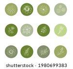 vector set of round highlights... | Shutterstock .eps vector #1980699383