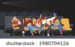 family characters watching...   Shutterstock .eps vector #1980704126