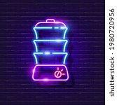 double boiler neon sign. vector ...   Shutterstock .eps vector #1980720956